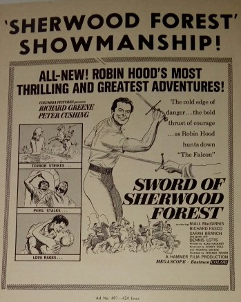 Pressbook: Sword of Sherwood Forest (1960)