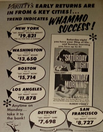 Saturday Night and Sunday Morning (1960) ***