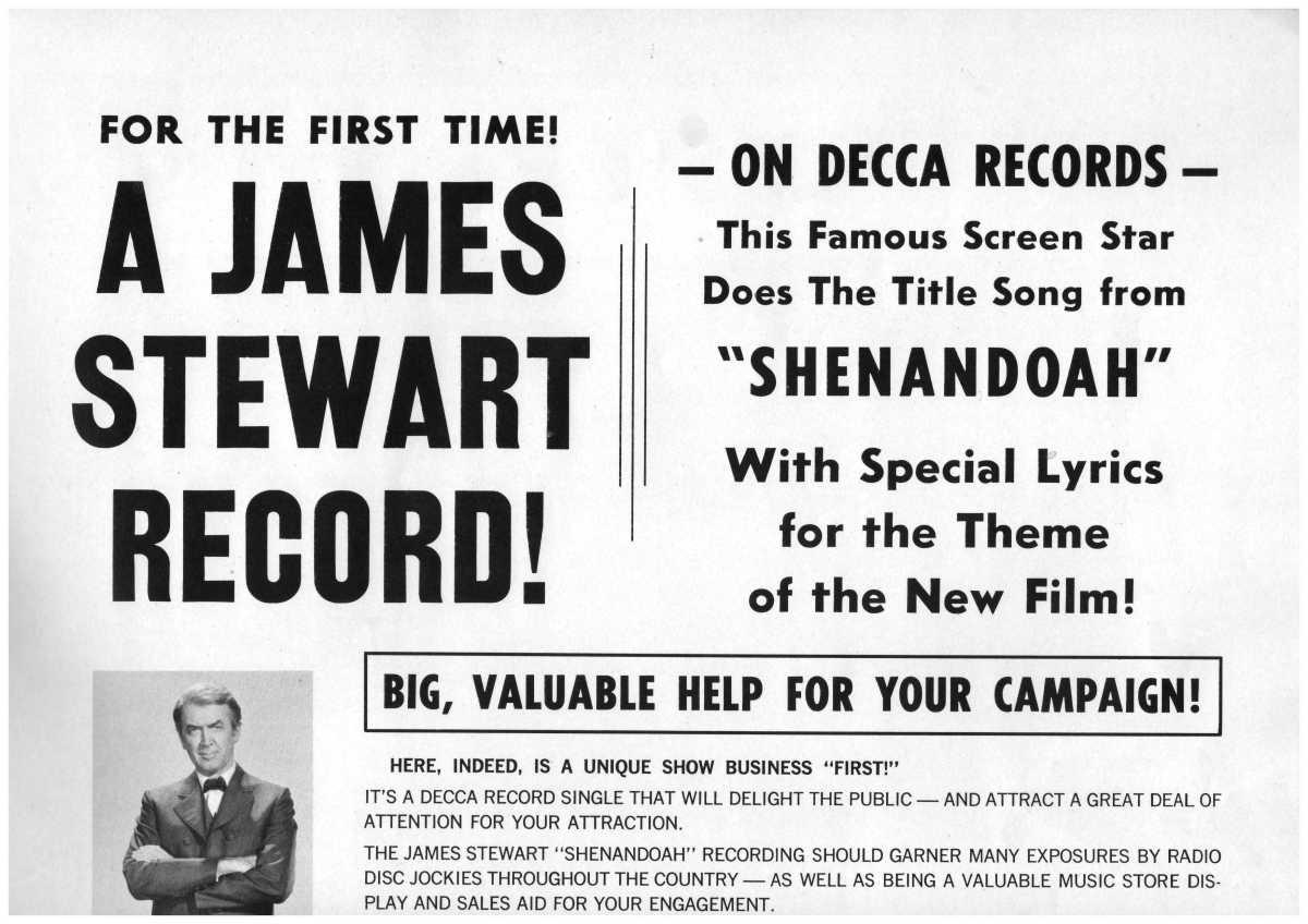 Pressbook: Sing, Jimmy, Sing – Shenandoah(1965)