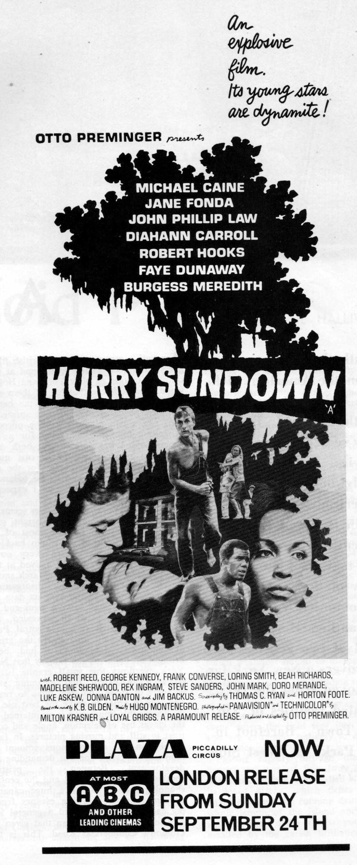 Hurry Sundown (1967)*****