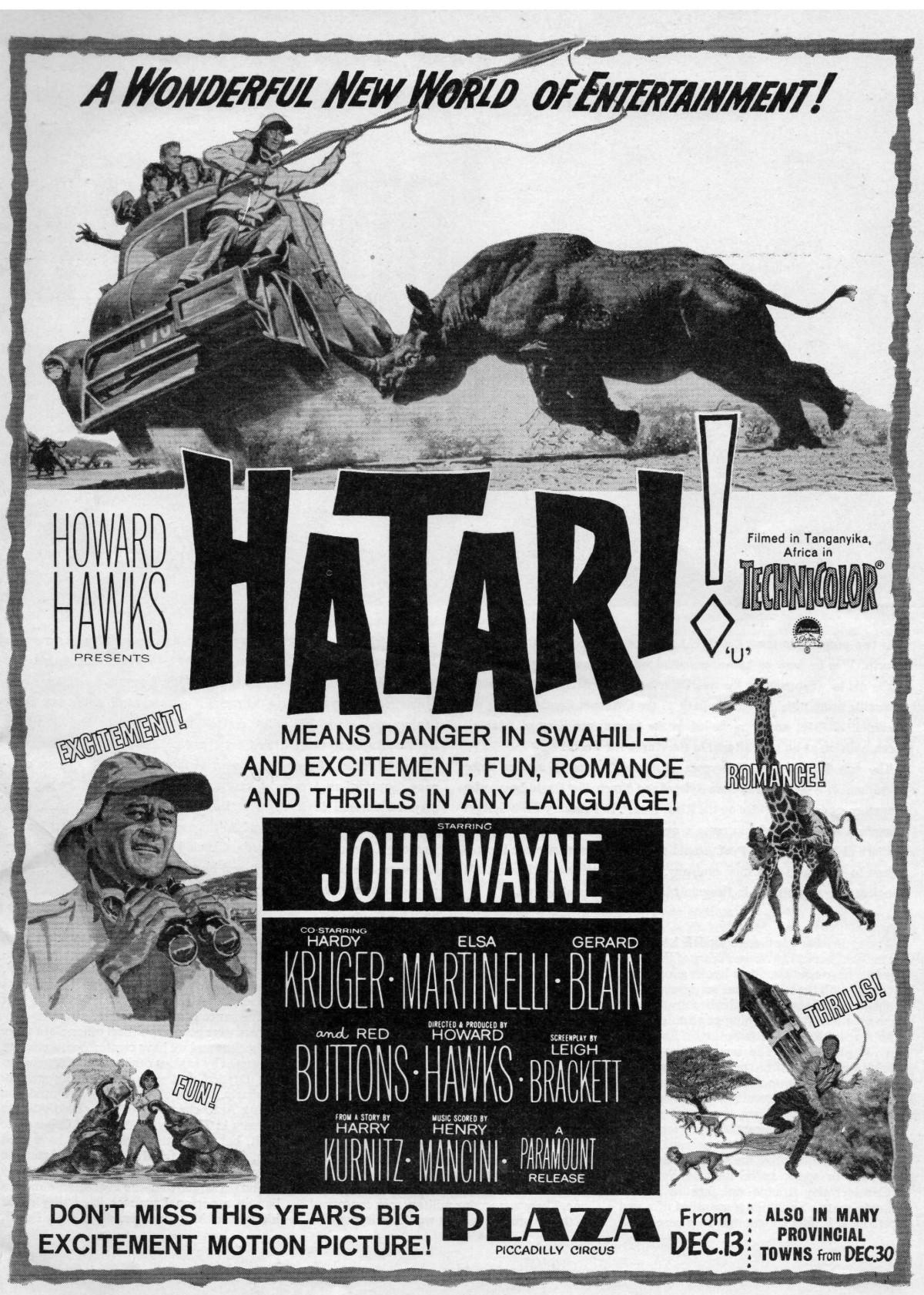 Hatari! (1962) ***