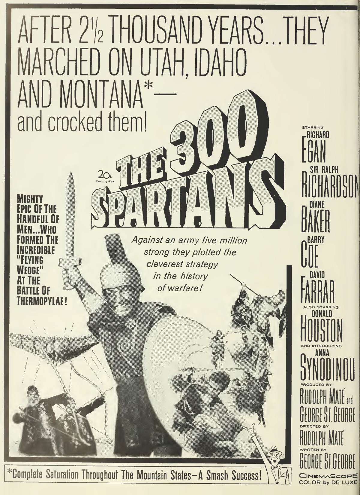 The 300 Spartans (1962) ****
