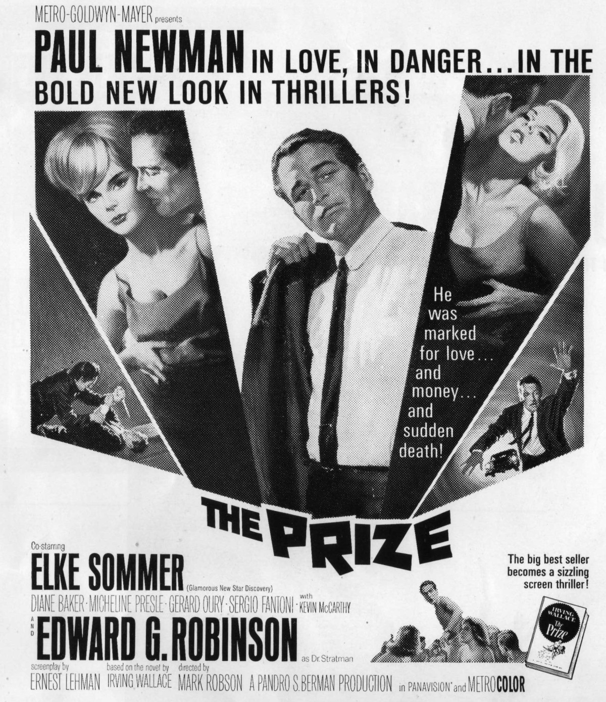 "Selling Paul Newman – The Pressbook for ""The Prize"""