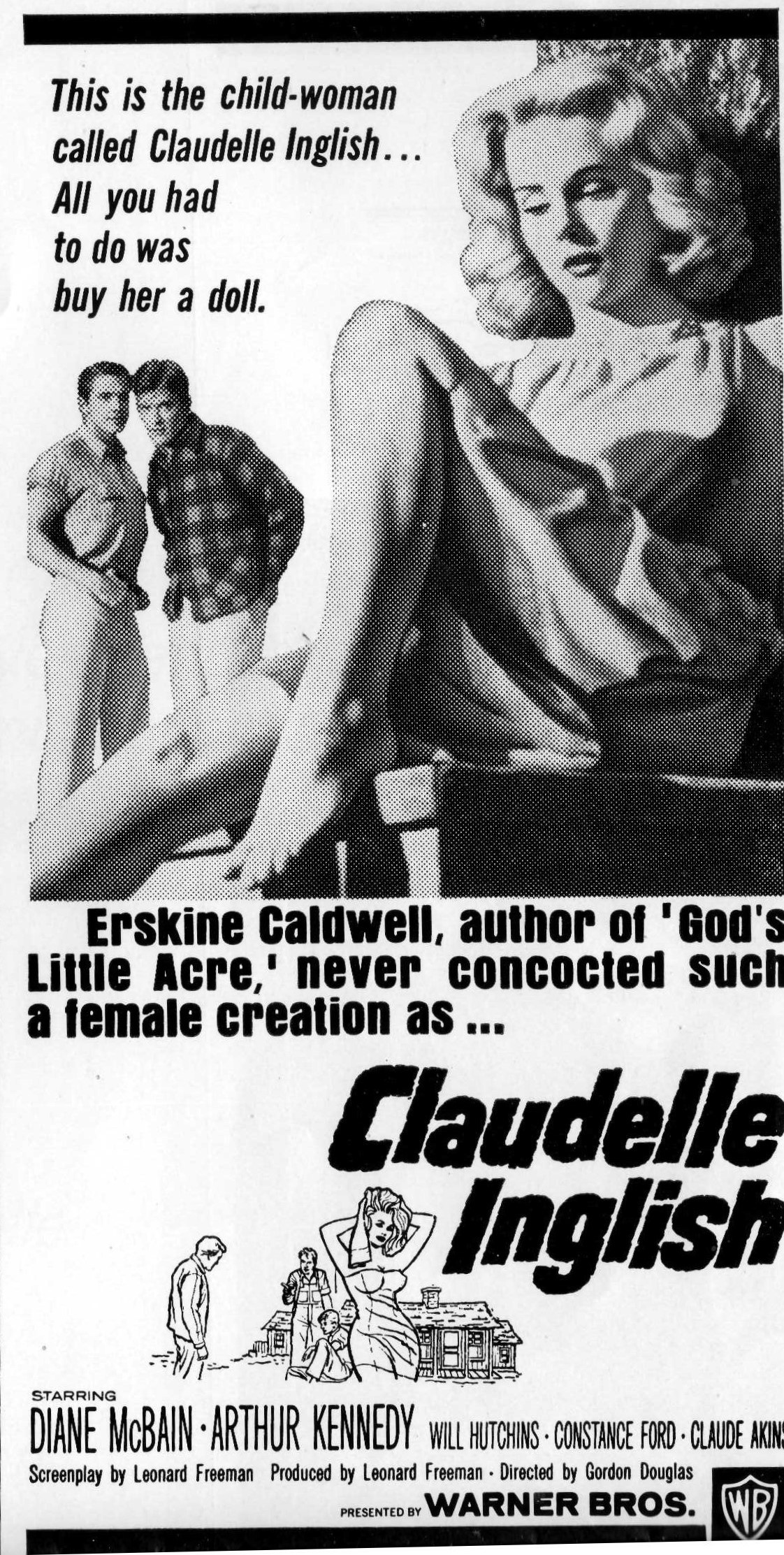 """""""MeToo"""" Warning – The Pressbook for """"Claudelle Inglish""""(1961)"""