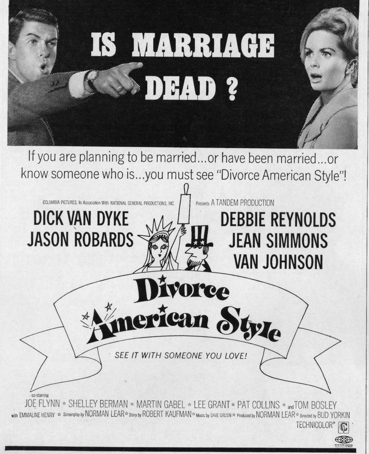 """Selling Dick Van Dyke – The Pressbook for """"Divorce AmericanStyle"""""""
