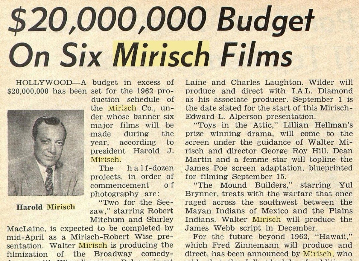 Hollywood Myths No 1 – The MirischBrothers