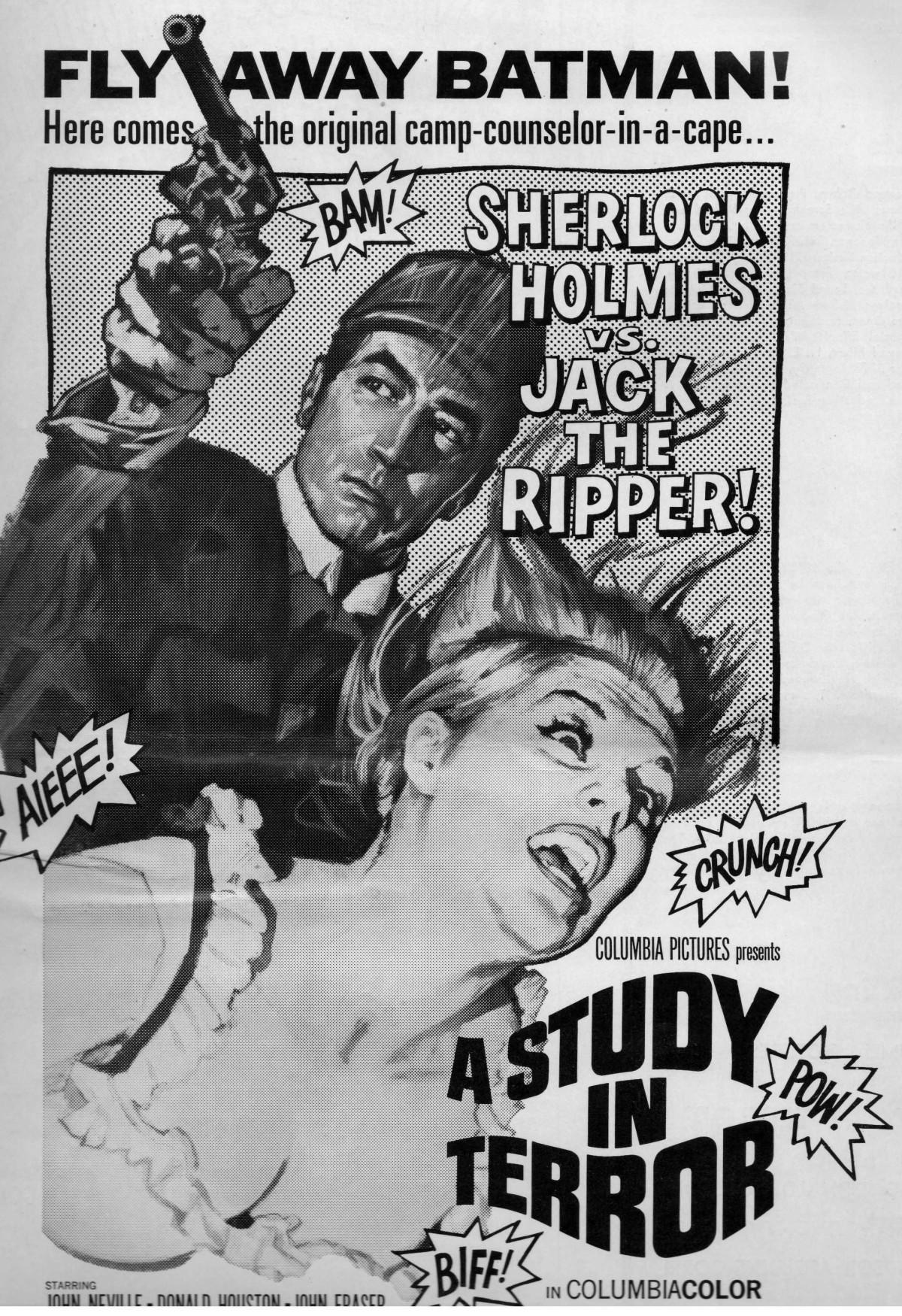 """Selling Sherlock Holmes – The Pressbook for """"A Study in Terror""""(1965)"""