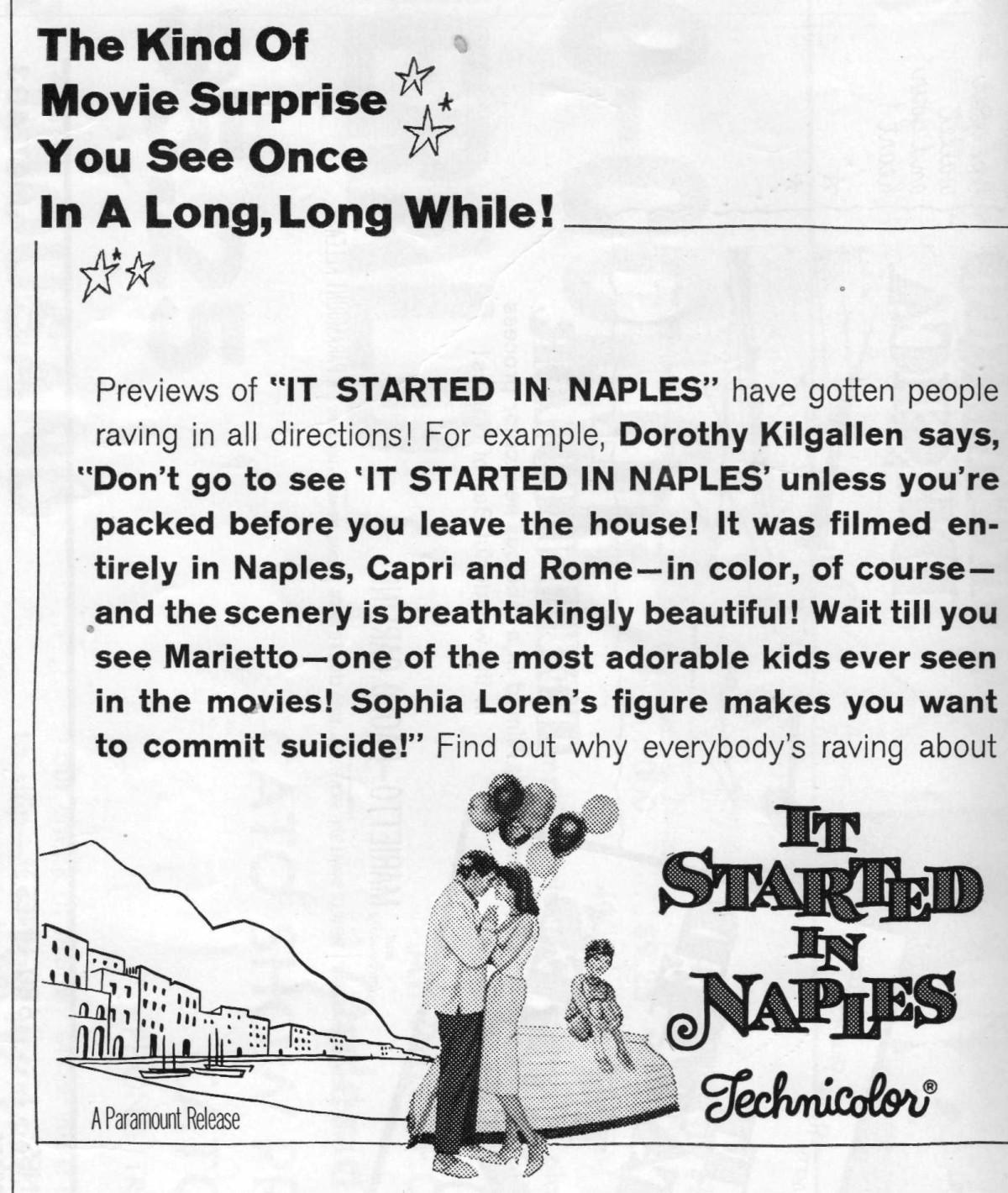 "Selling Sophia Loren – The Pressbook for ""It Happened inNaples"""