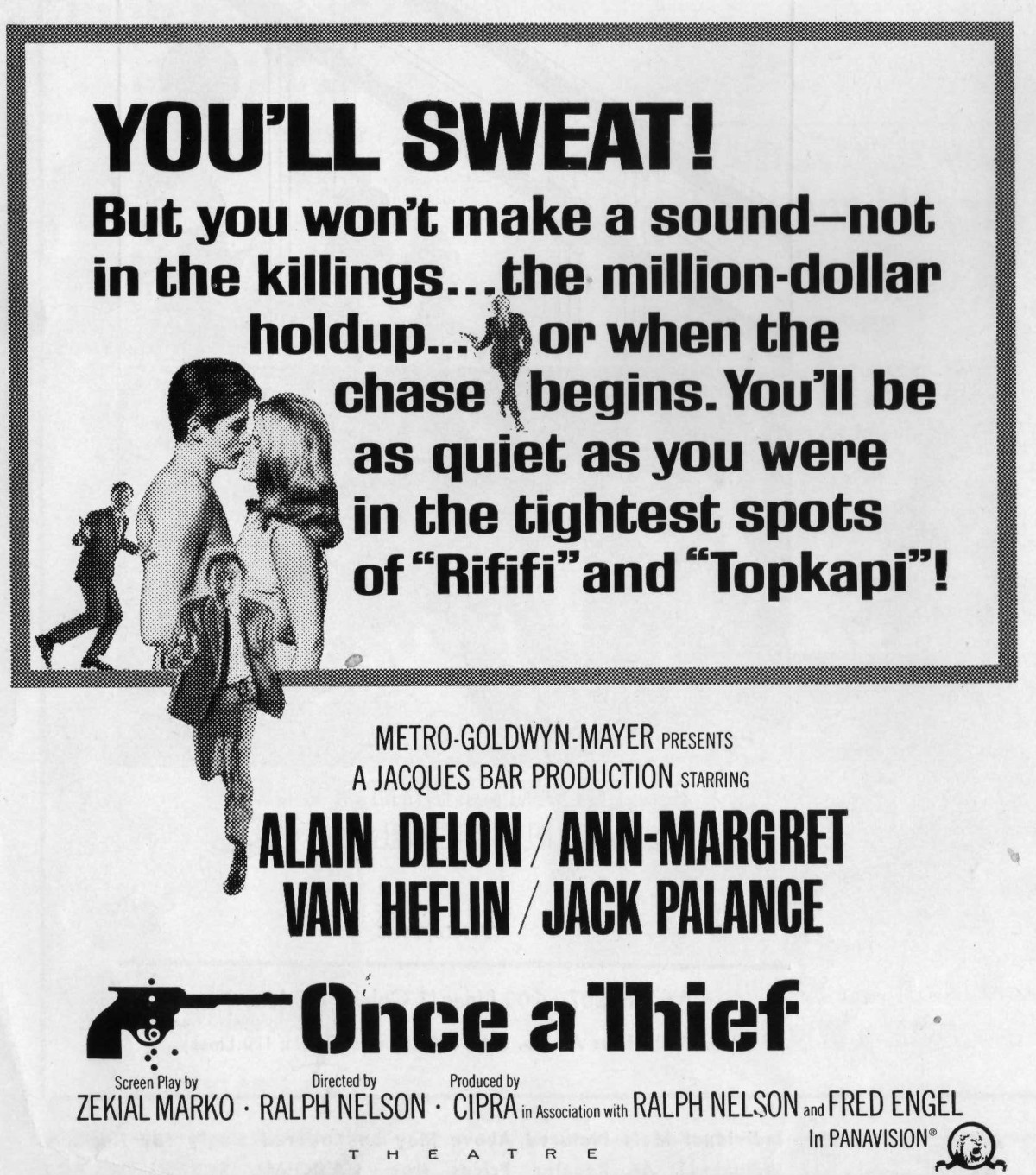 """Selling Alain Delon and Ann-Margret – The Pressbook for """"Once a Thief""""(1965)"""